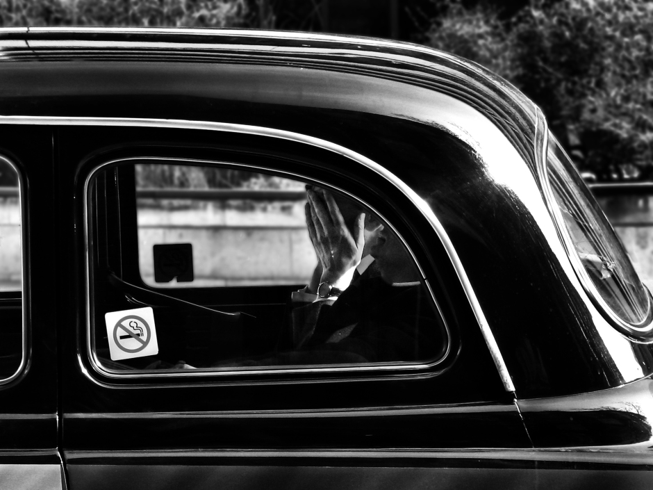 black and white street photography london taxi