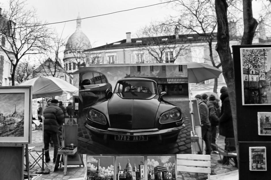 Paris Montmartre - black and white