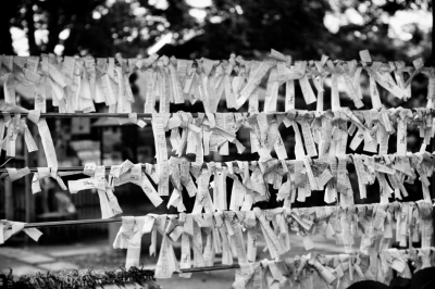 Prayer wishes in Ueno Park